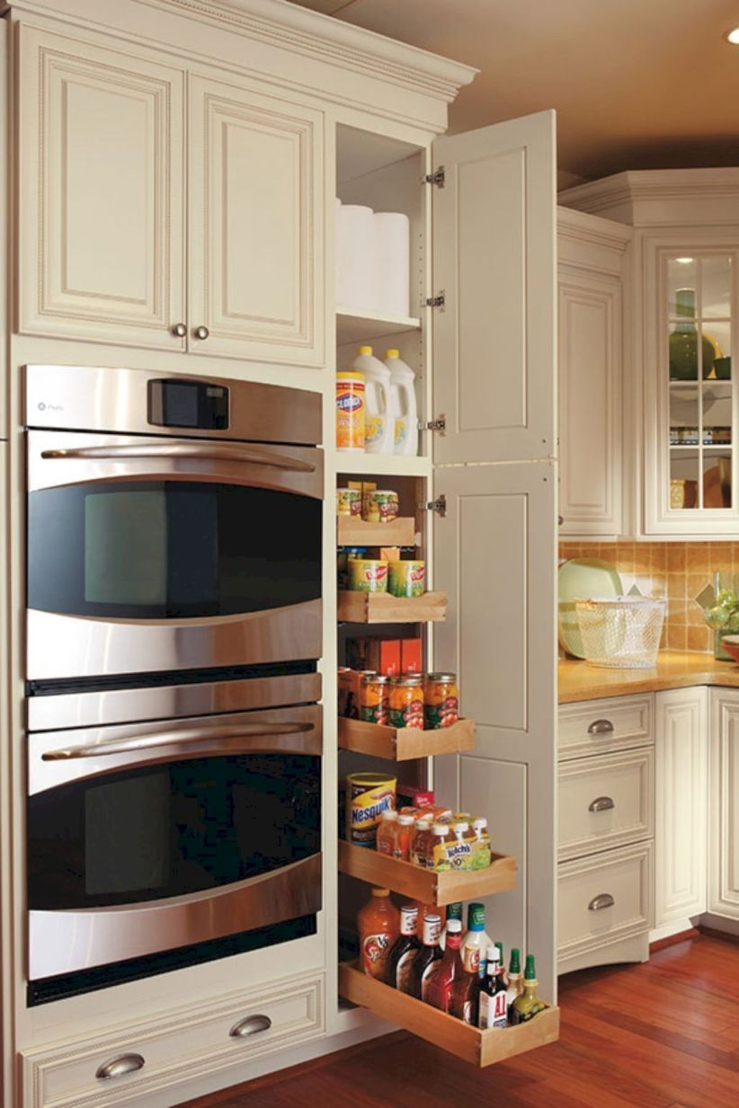 44 Smart Kitchen Cabinet Organization Ideas Godiygo Com Modern Kitchen Cabinet Design Kitchen Remodel Small Kitchen Cabinet Design