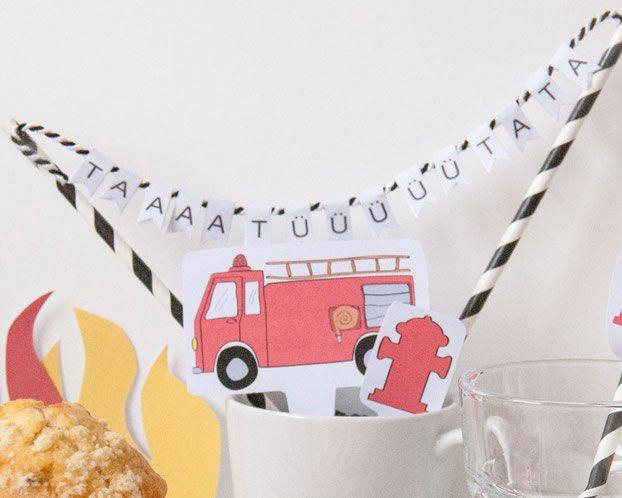 Feuerwehr Geburtstag: Tortendekoration - www.limmaland.com
