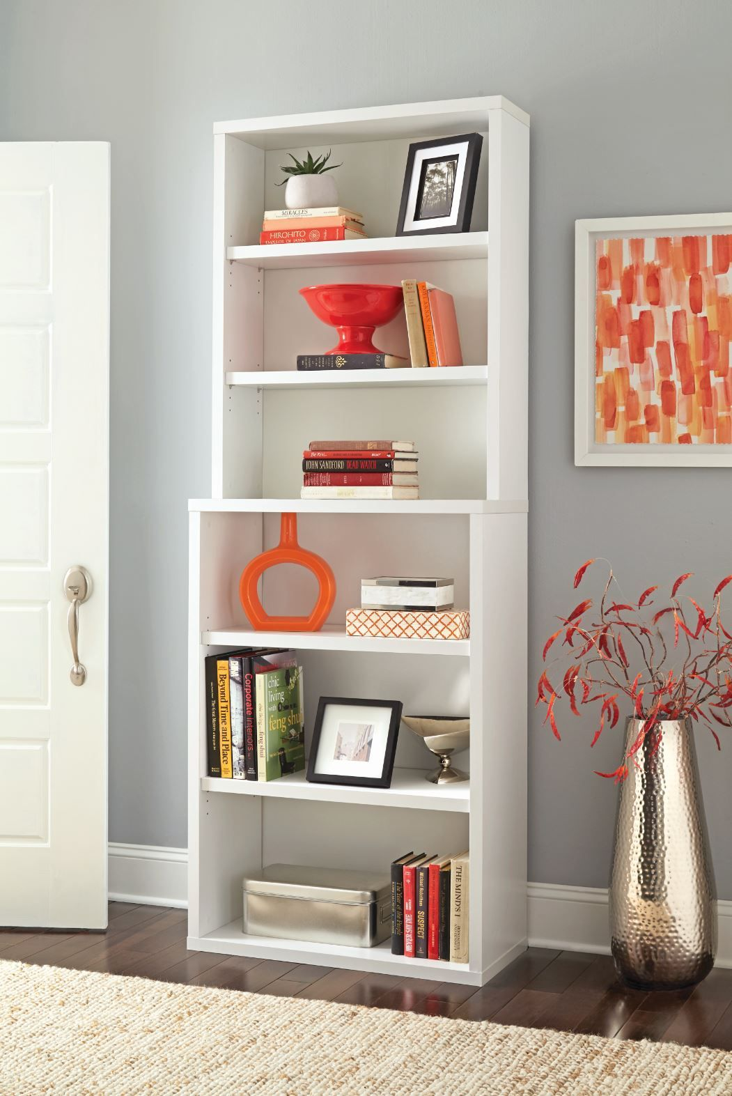 Home Office Bookshelf 6 - Shelf Hutch Bookcase Home Office Bookshelf ...