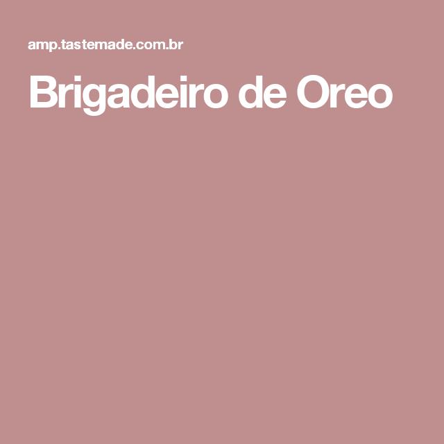 Brigadeiro de Oreo