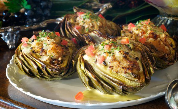 Crab stuffed artichokes in recipes on the food channel food crab stuffed artichokes in recipes on the food channel forumfinder Images