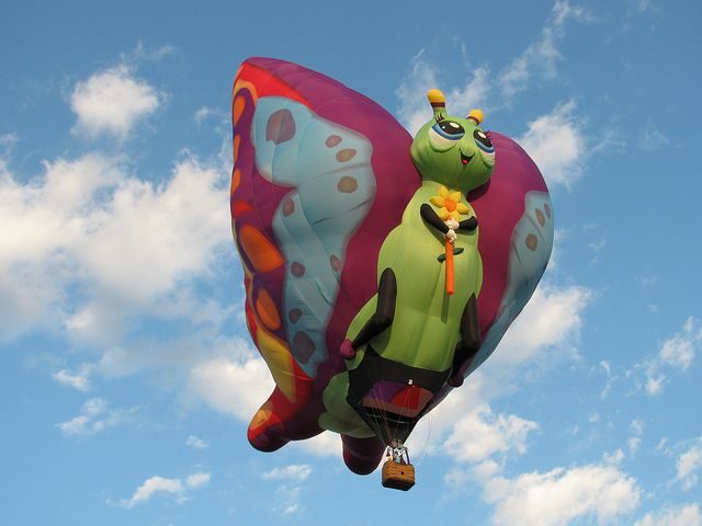 Butterfly hot air balloon | Flickr - Photo Sharing!