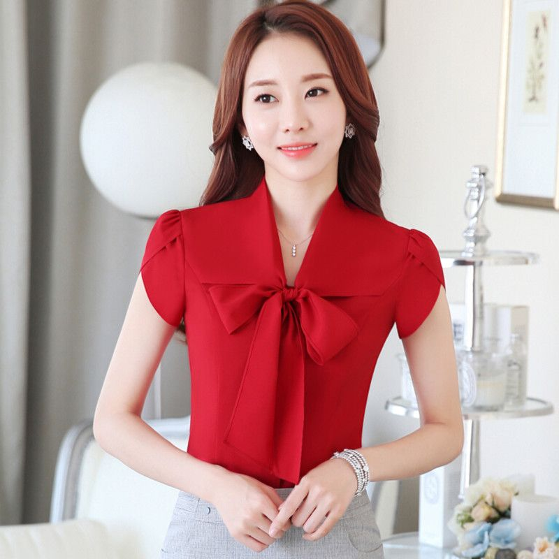 fa13f3be761 Fashion 2016, New Fashion, Korea Fashion, Summer Professional, White  Chiffon Blouse,