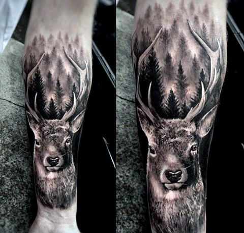 103 Best Animal Tattoos In 2020 Cool And Unique Designs Animal Tattoos For Men Deer Tattoo Deer Tattoo Designs