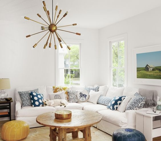 Clever Decorating Ideas For Every Room In Your Home White SectionalWhite