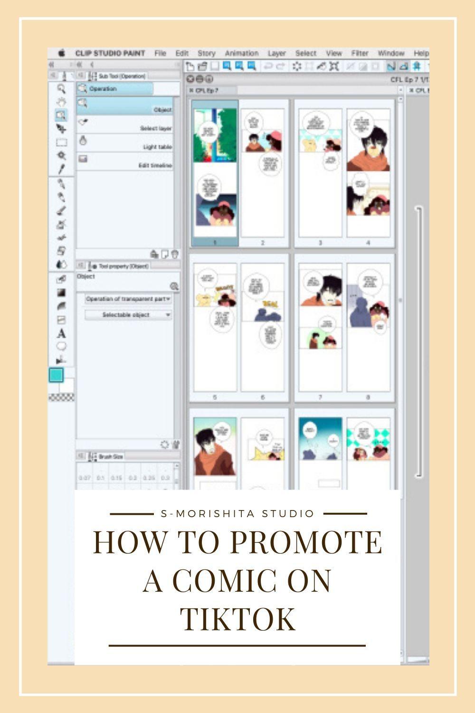 How To Start A Webtoon Comic Promoting On Tiktok Comic Tutorial Webtoon Comics Webcomic Tutorial