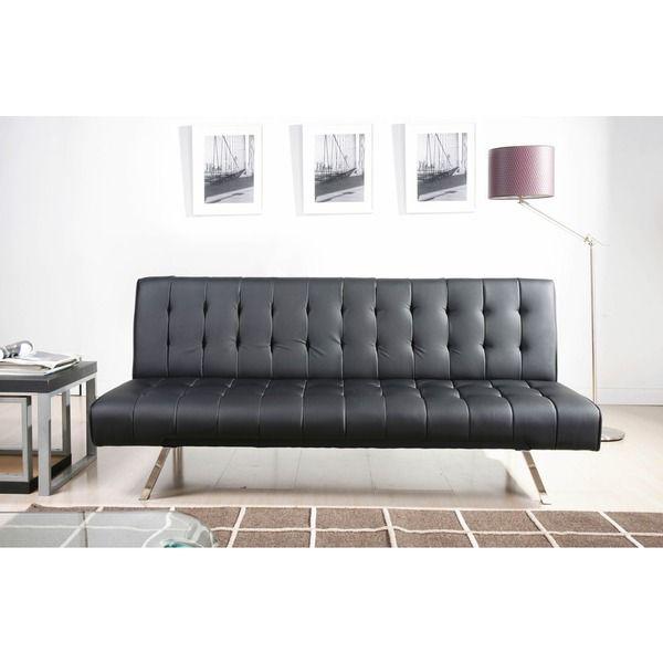 abbyson living milan futon sleeper sofa bed   overstock shopping   great deals on abbyson living abbyson living milan futon sleeper sofa bed  black    sleeper      rh   pinterest