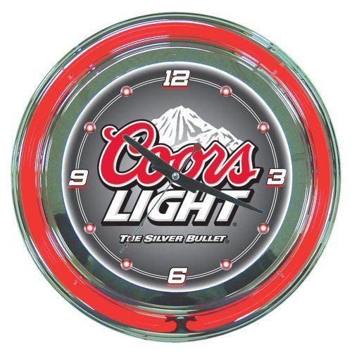 Trademark Coors Light 14 Inch Diameter Neon Wall Clock By Trademark Global Http Www Amazon Com Dp B001ug2rju Ref Cm Sw R Pi Dp Coors Light Neon Clock Coors