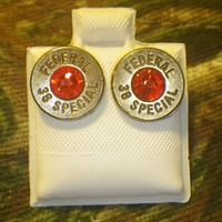 Bullet Casing Studs with Jewel -GREAT PRICES @ HANDFAPPAREL.COM