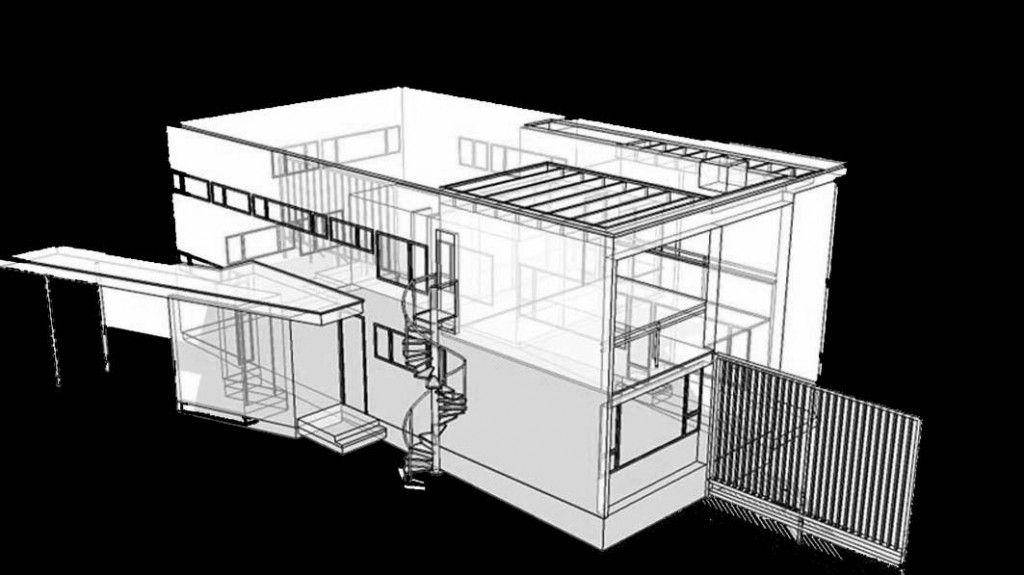 Gropius House computer rendering the gropius house 1937 lincoln massachusetts