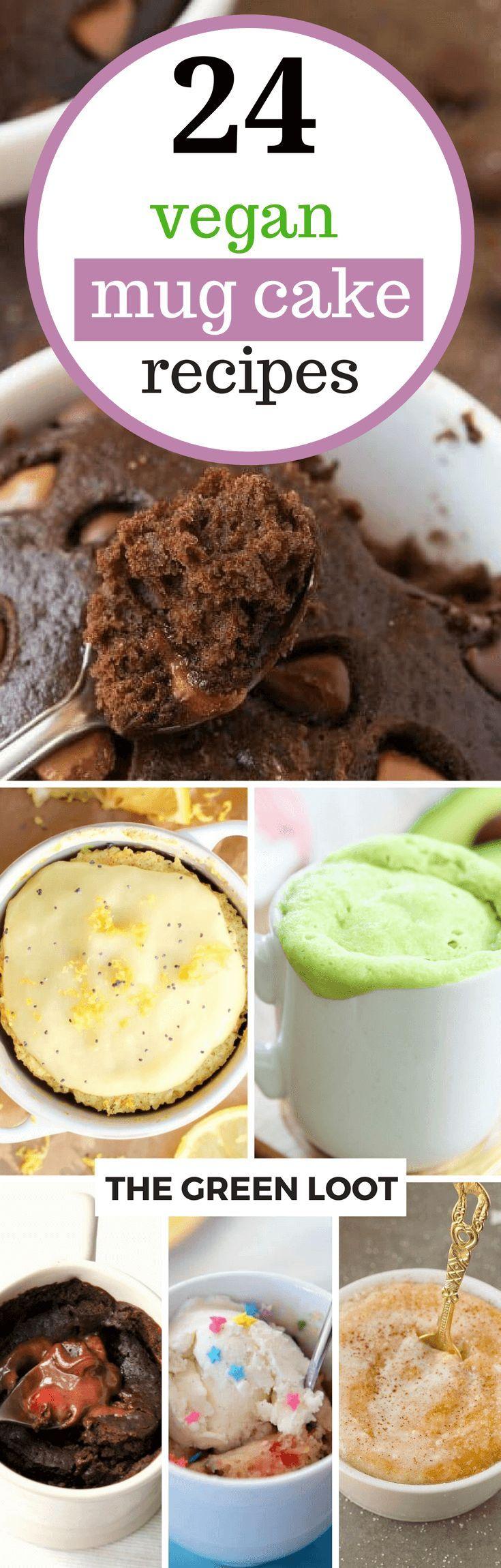 24 Easy Vegan Mug Cake Recipes in The Microwave | Vegan ...