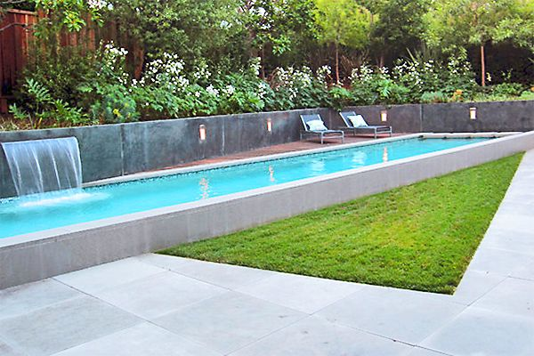 waterfall on pools google search pool end pinterest pool waterfall pool designs and searching - Rectangle Pool With Water Feature