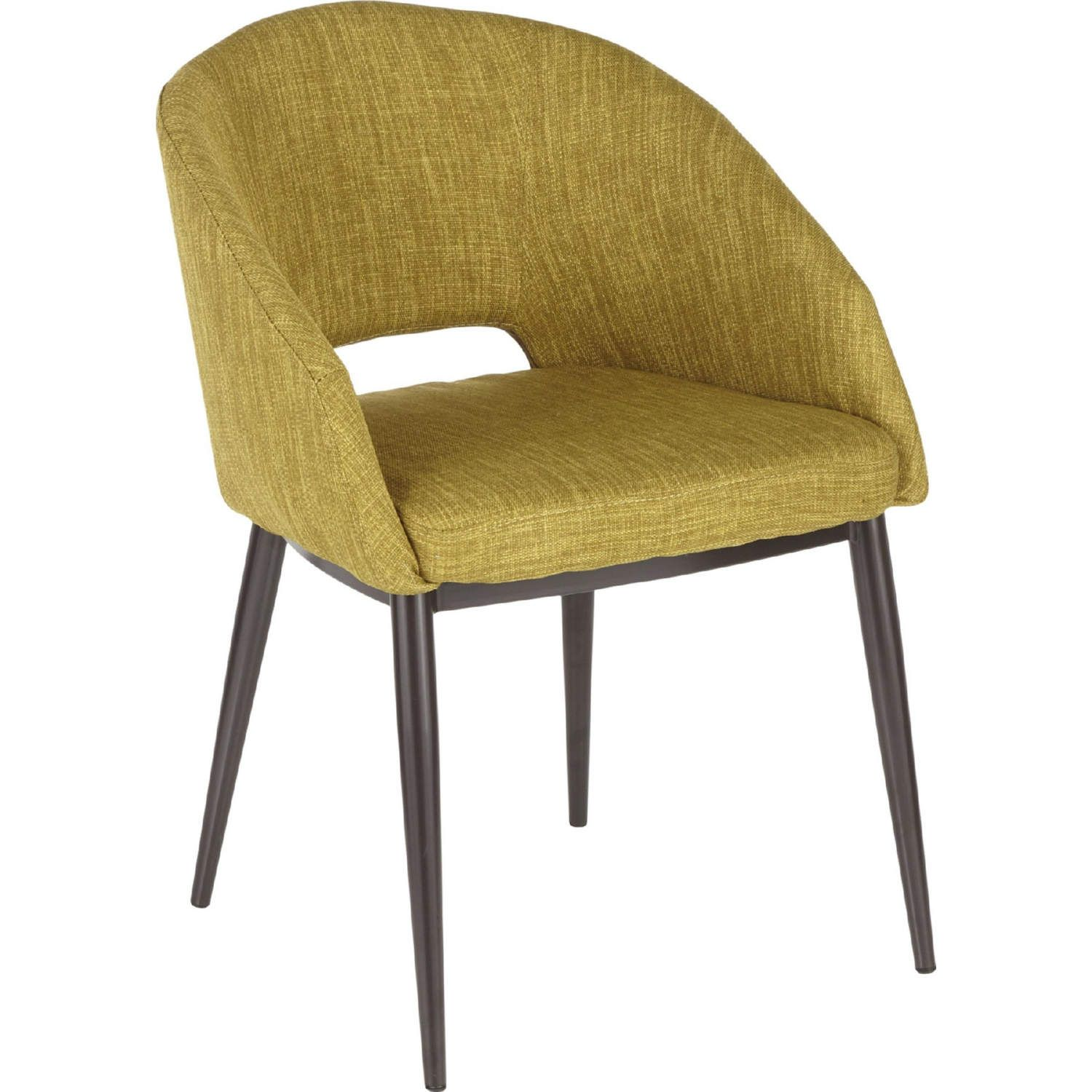 Renea Accent Chair Collection: Lumisource Renee Accent Chair Espresso Metal Legs Green