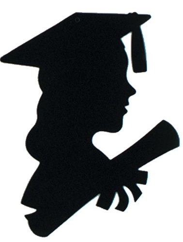 girl graduate silhouette 12 inches
