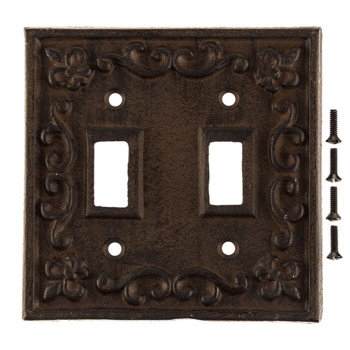 Rust Cast Iron Double Switch Plate Hobby Lobby 466367 Light Switch Plate Cover Iron Lighting Switch Plates
