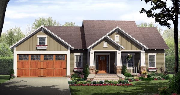 House Plan Chp 49293 At Coolhouseplans Com 1604 Sq Ft Extend Kitchen And Dining 5 Feet Wher Craftsman Style House Plans Craftsman House Plans Craftsman House