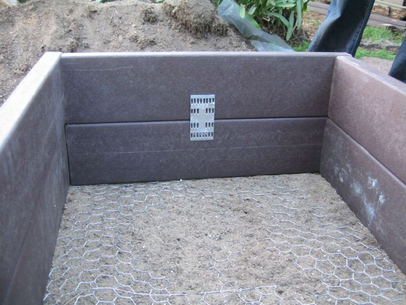 Raised garden bed composite decking Im sure these would last a