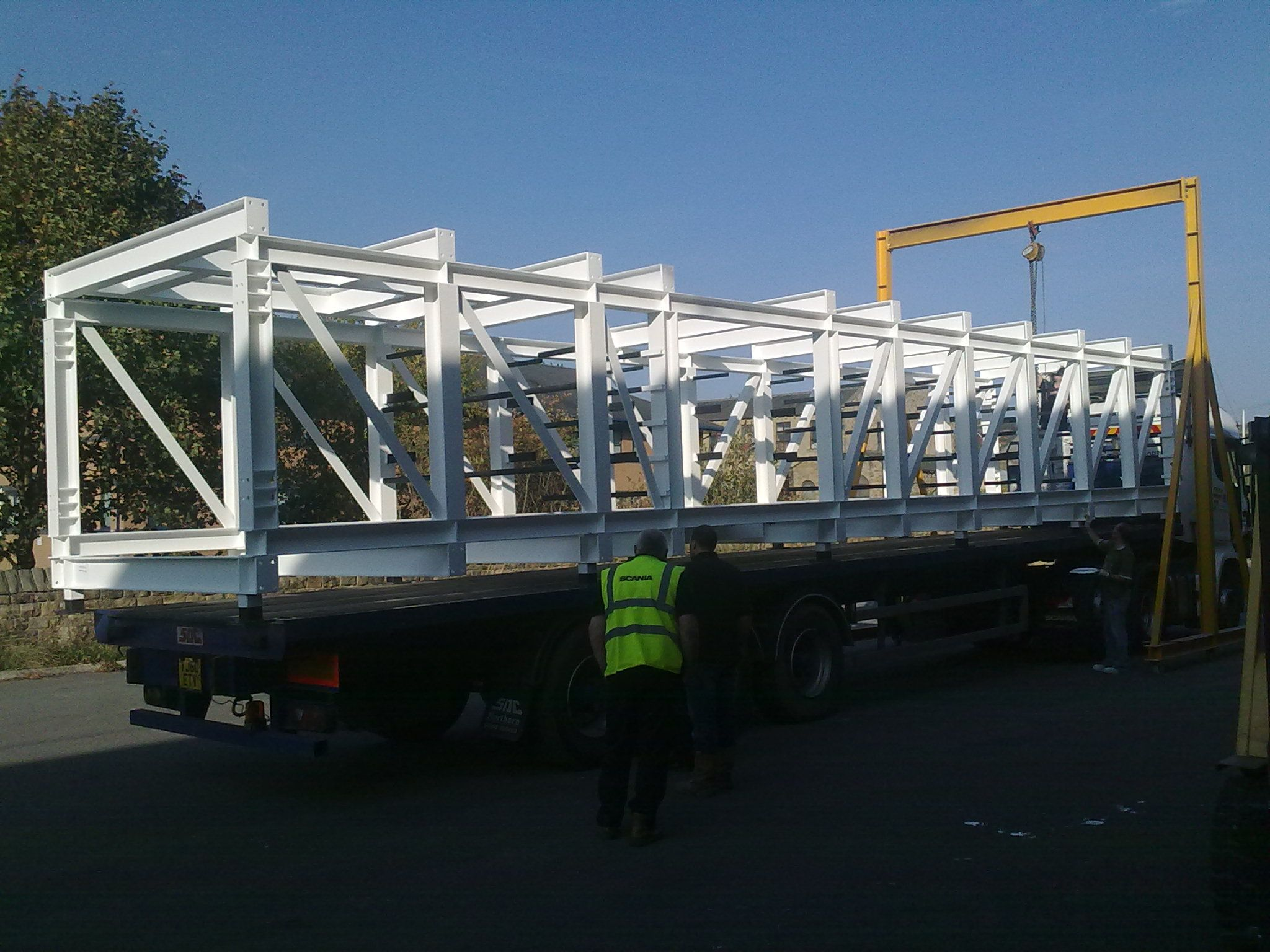 Manufactured by ASG - Steel Plantrooms for Baileys Leeds - Large Steel Frames - Powder Coated