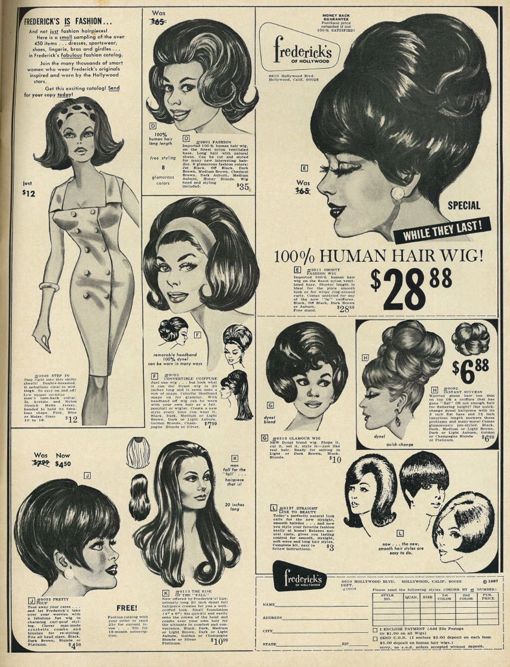 19 Vintage Ads For Fashion Wigs And Hairpieces From The 1960s And