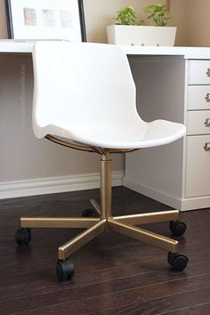 ikea hack: make the $20 snille chair look like an expensive office