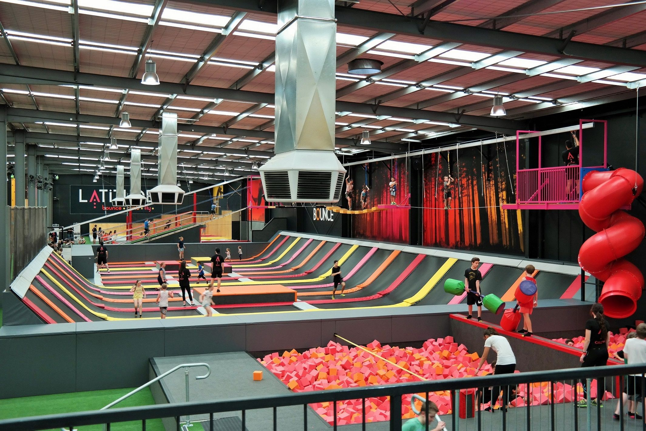 Latitude Trampoline And Rock Climbing Activity Centre Other Activities Include