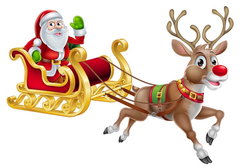 Christmas Santa Claus With Deer Free Png Images Free Digital Image Download Upcrafts Design Christmas Sleigh Christmas Cartoons Santa Claus Crafts