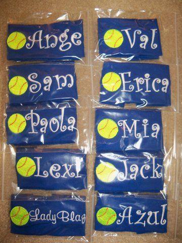 Softball Team Personalized Headbands Stretch Headband Softball Team