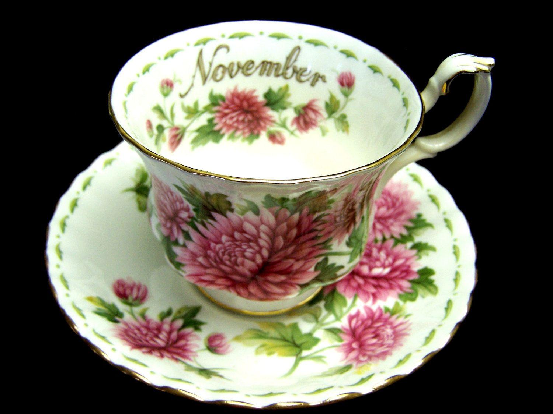 royal albert china flower of the month series November