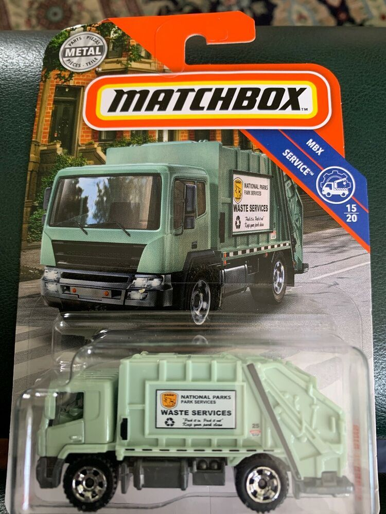 Details About 2019 Matchbox 91 Garbage King Green Truck
