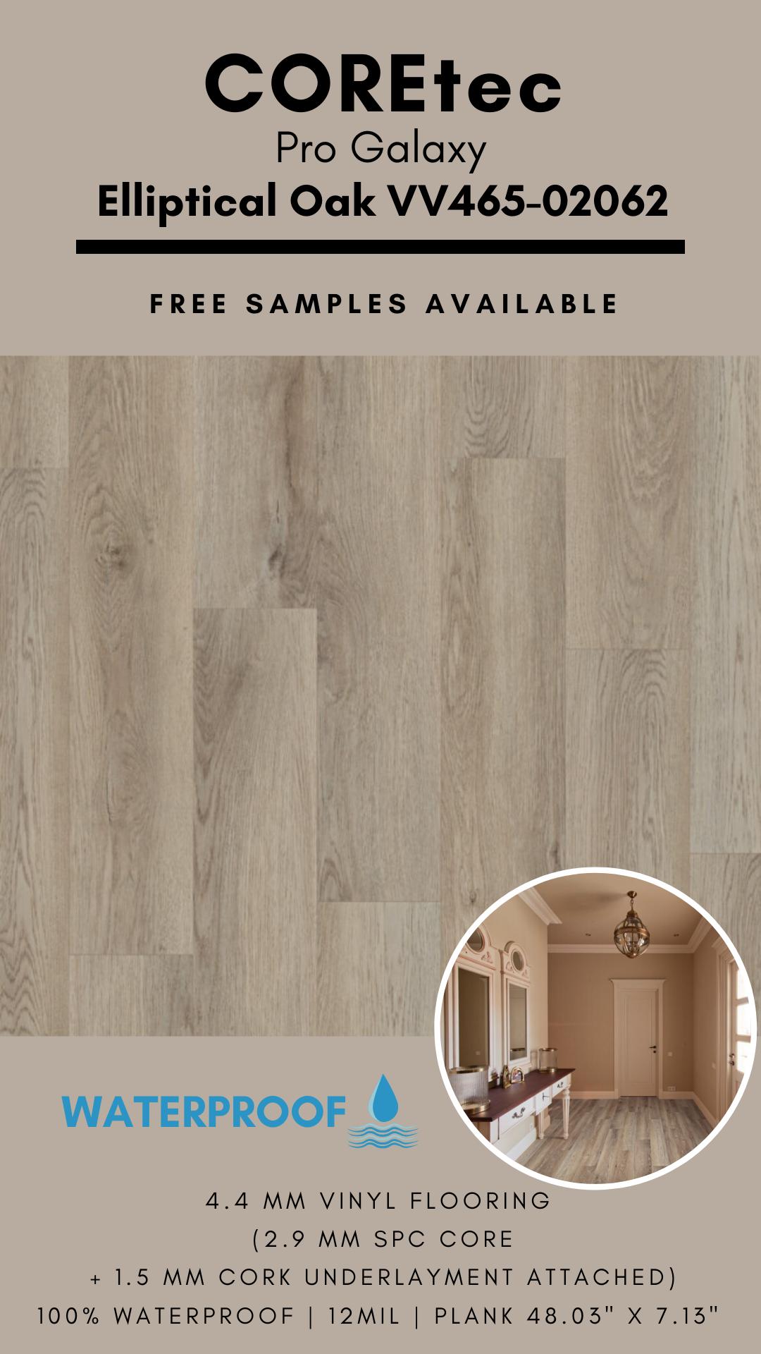 Coretec Pro Galaxy Elliptical Oak Vinyl Flooring In 2020 Vinyl Flooring Flooring Luxury Vinyl Flooring