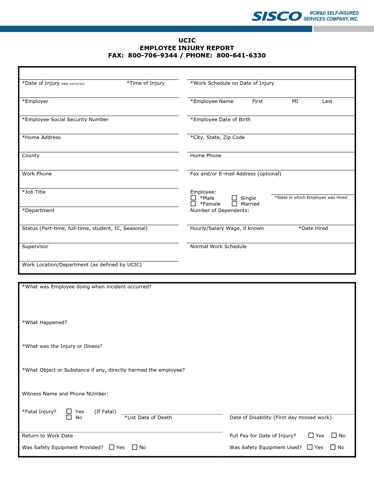 Injury Incident Report Template Injury Report Template 28 Images Sle Incident Report 16 Documents In .