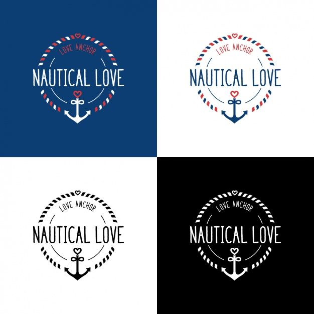 FREE DOWNLOAD u2013 Nautical love logo design #logo #logodesign - love templates free