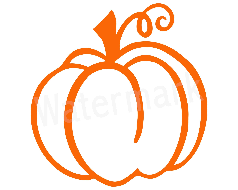 Pumpkin SVG, Happy Halloween, Pumpkin Outline, Pumpkin