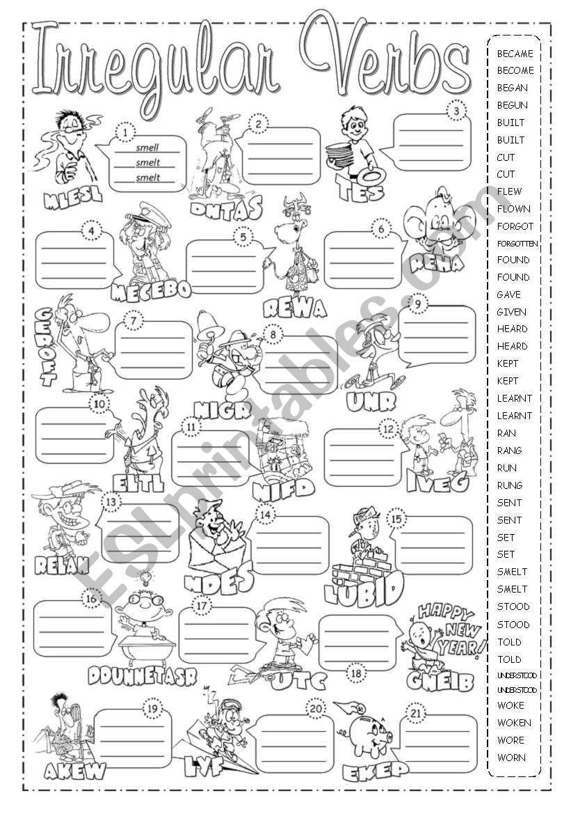 Irregular Verbs Pictionary 2 Worksheet Irregular Verbs Verb Verbs Activities [ 1169 x 821 Pixel ]