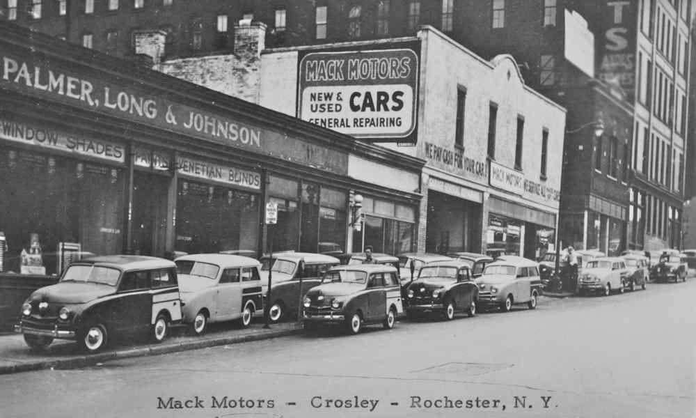 Mack Motors , Crosleys Rochester, Car dealership, Old