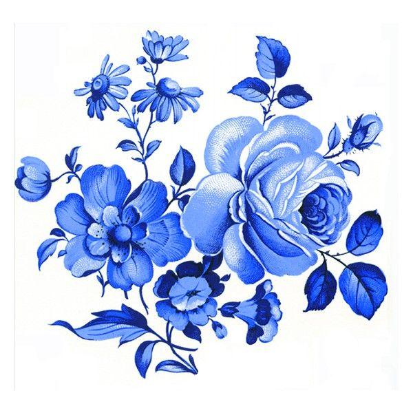 Гжель картинки цветки