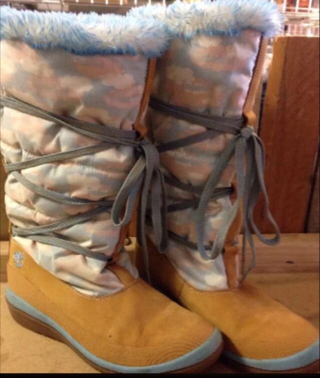 """You can be on Cloud 9 with these gorgeous #timberland 12"""" boots!  Size 9 $69 including shipping!"""