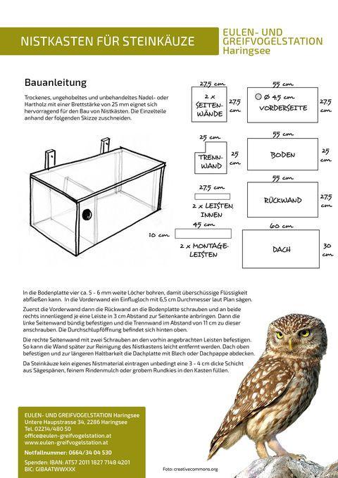 Nistkästen für Eulen und Greifvögel Eulen und Greifvogelstation Haringsee