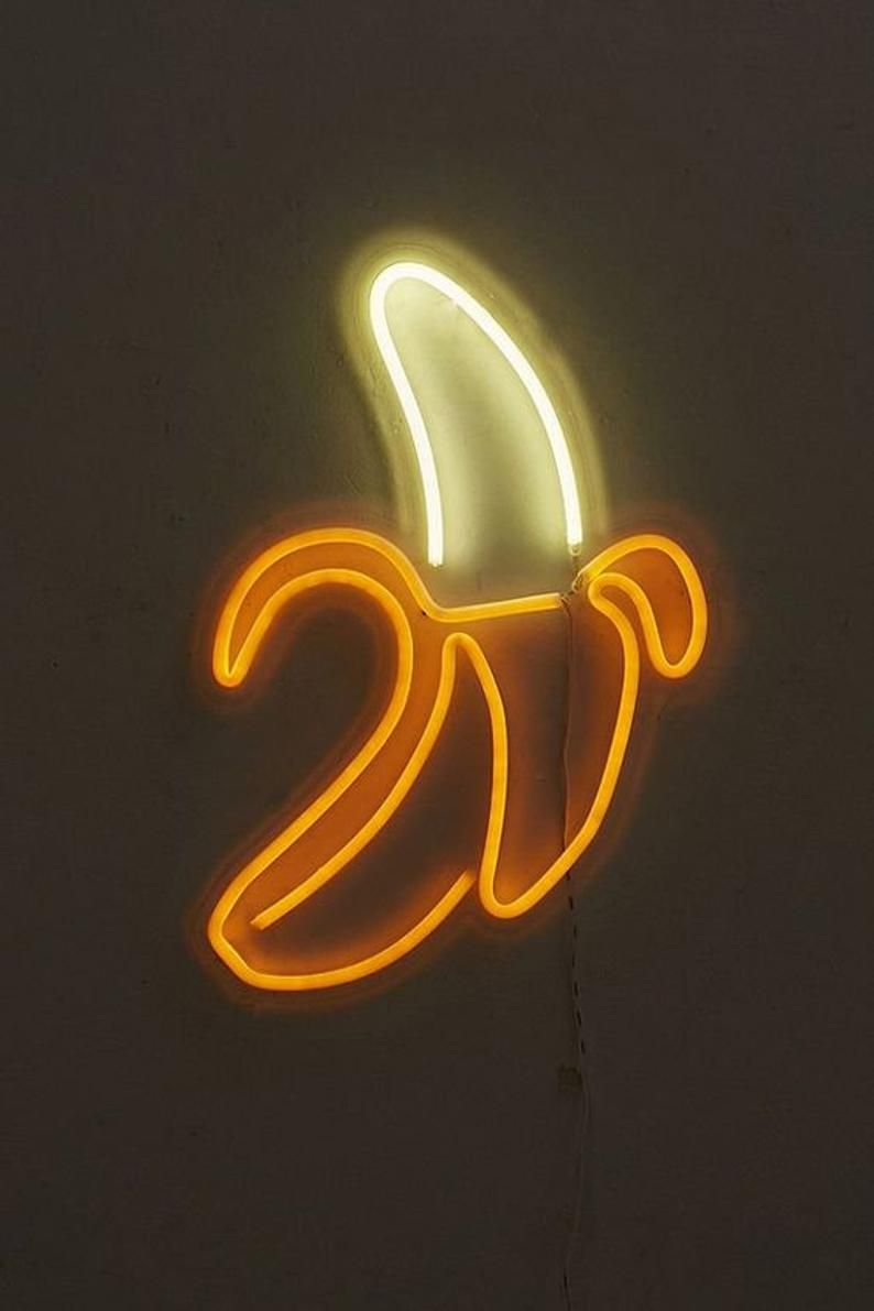 Read the full title Fruit Neon Sign Peach Banana Strawberry Watermelon Neon Light Emoji Neon Sign