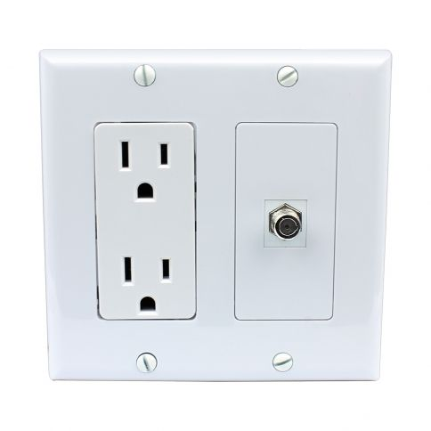 Banana Plug Wall Plate Impressive Brand New 15 Amp Power Outlet And 1 Port Hdmi Decora Type Wall Plate Design Decoration
