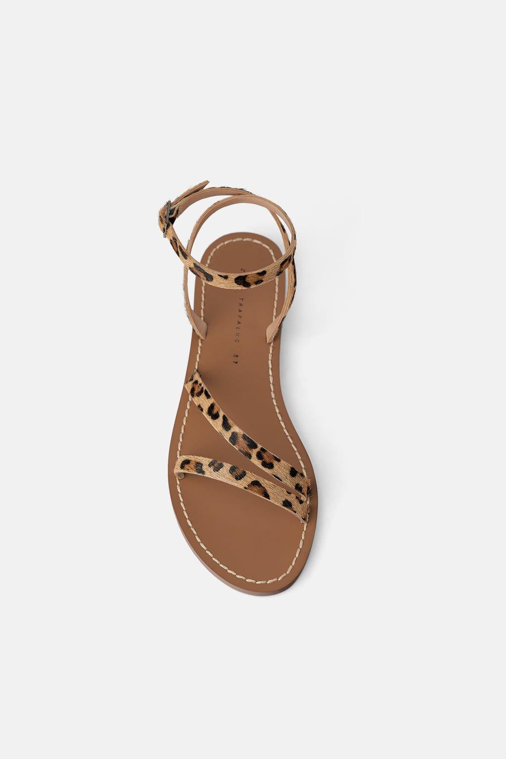 zara leopard print sandals