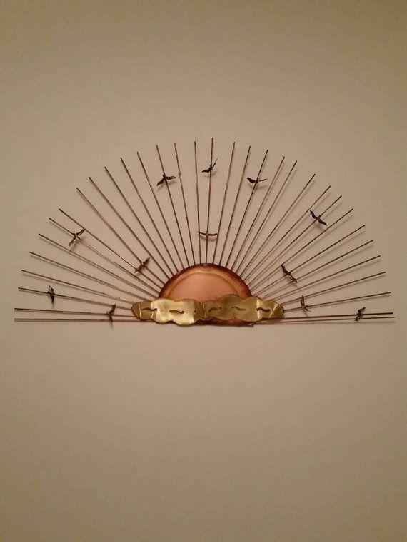 Brass C Jere Style Sunburst Seagull Wall Sculpture Amazing Ideas