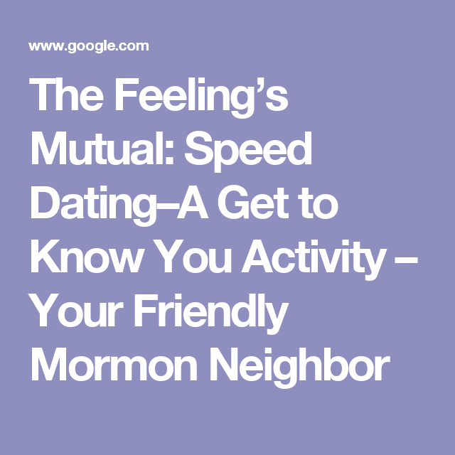 Speed dating get to know you activity