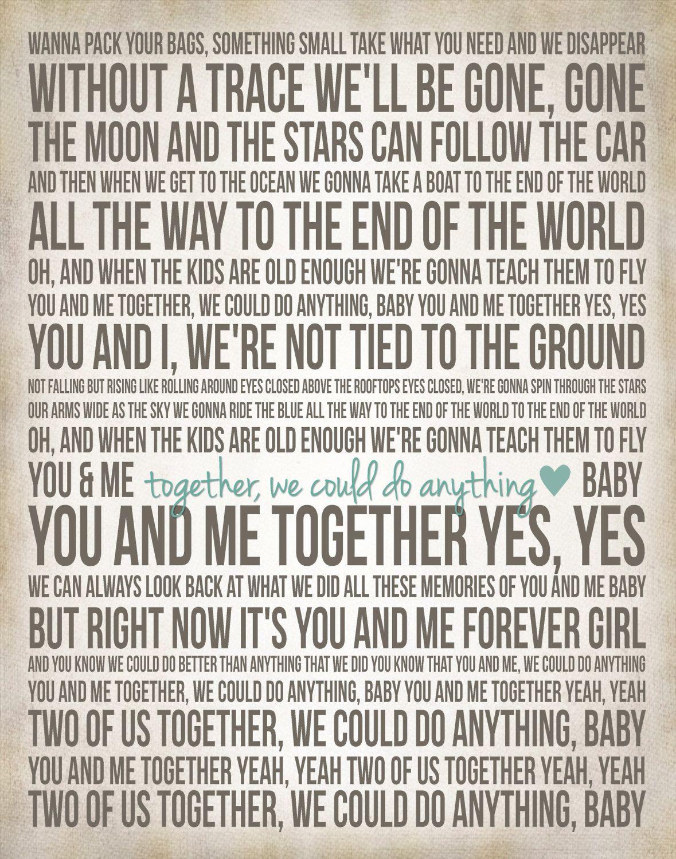 You Me Dmb Song Lyric Posters Lyric Poster You And Me Lyrics