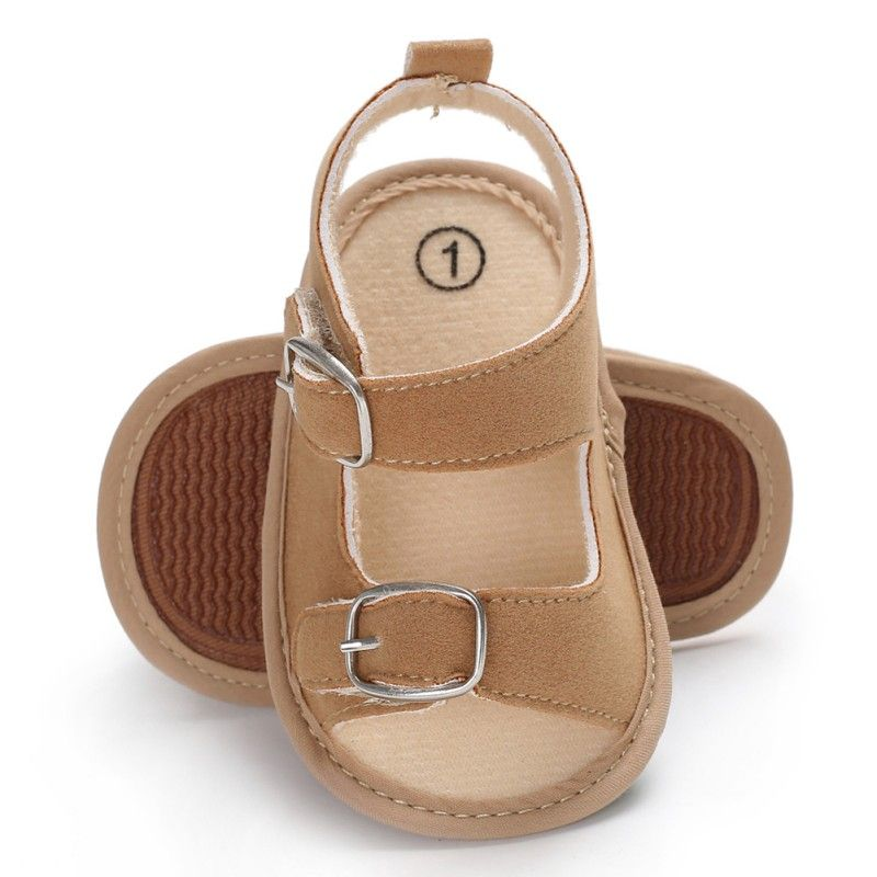 7d1bffb6f431c Stylish Baby Boys Girls Sandals Toddler Solid Color Slip-On Shoes Summer  Baby PU Leather Sandals 0-18Months Price  3.16   FREE Shipping  little