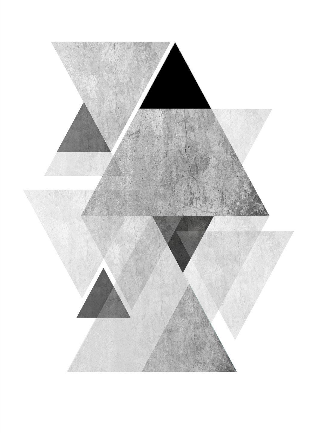 Downloadable Set Of 3 Scandinavian Geometric Tryptic Wall Art Prints Printable Wall Home Decor Trio Mountain Poster Navy Turquoise Teal Aqua Handmade Home Decor Home Decor Turquoise Room