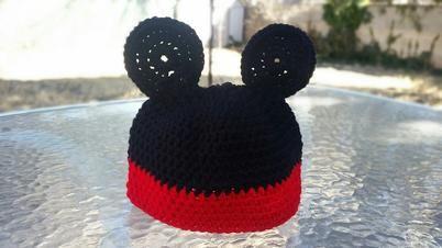 Crochet Mickey Mouse Hat,... - Gels Bombay Crochet   Scott's Marketplace