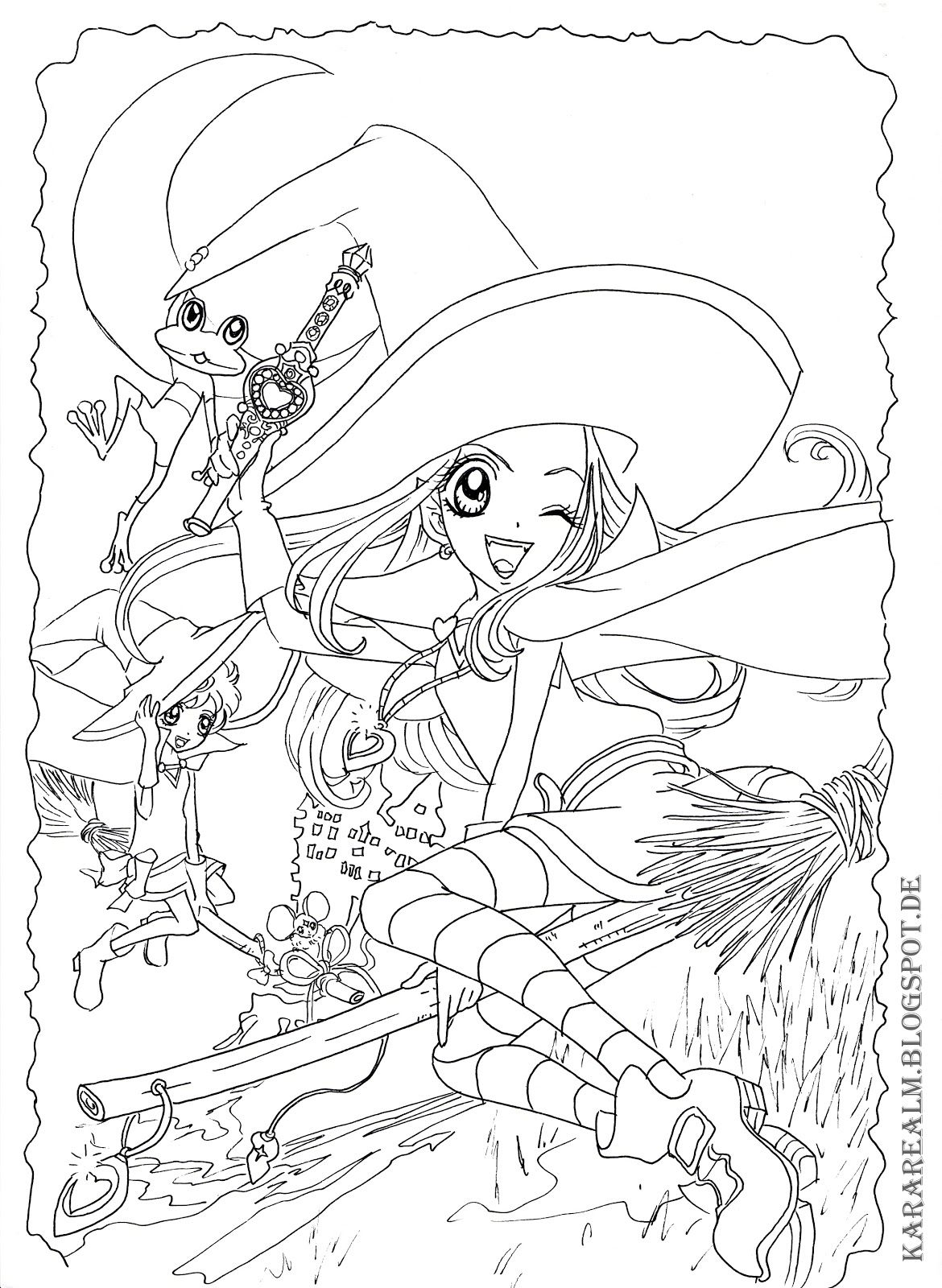 Sugar Sugar Rune Coloring Pages Google Search Anime