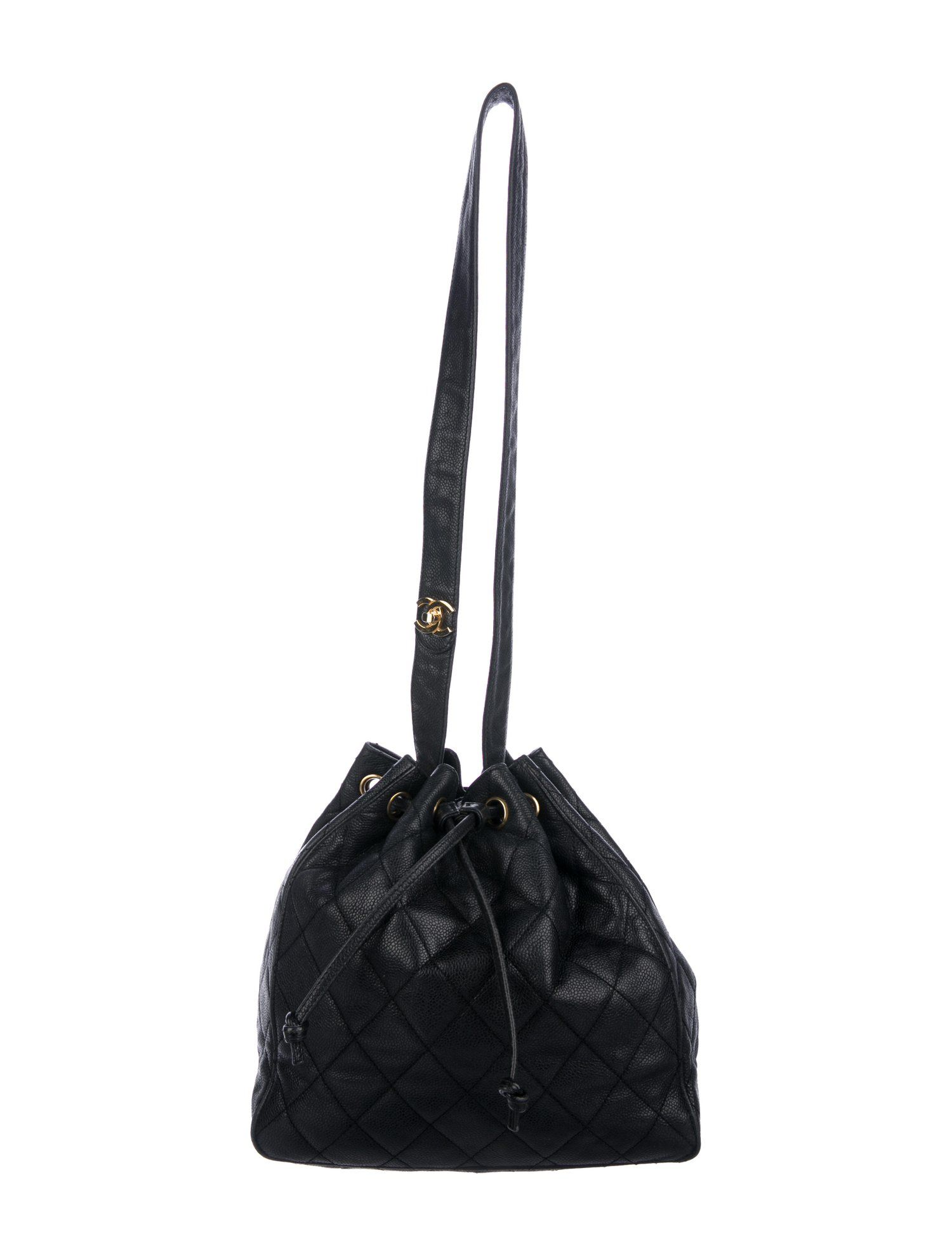 Chanel Vintage Quilted Caviar Bucket Bag Handbags Cha261067 The Realreal Bucket Bag Bags Vintage Chanel