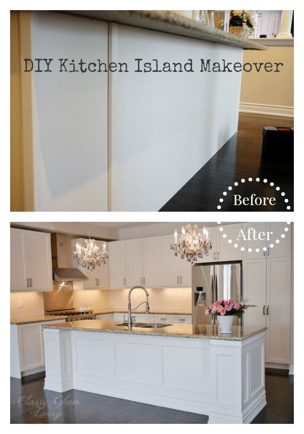 DIY Kitchen Island Makeover - Classy Glam Living | Home improvement ...